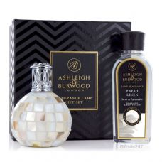 Ashleigh & Burwood Fragrance  Lamp Gift Set - Artic Tundra & Fresh Linen Lamp Oil